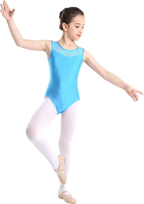 Yeahdor - Maillot de Ballet para niña, sin Mangas, de algodón ...
