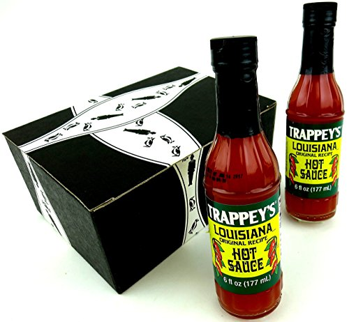 Trappey's Louisiana Original Recipe Hot Sauce, 6 oz Bottles in a Gift Box (Pack of 2) by Black Tie Mercantile