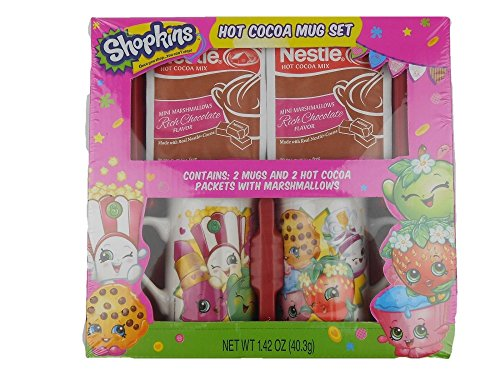 Shopkins Hot Chocolate Cocoa Mug Set