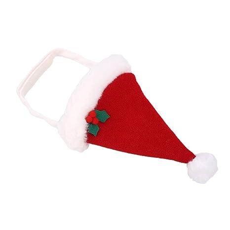 Kicode Cachorro de perro mascota Gato Sombrero Rojo De Santa lindo  encantador Fiesta de Navidad de 13837c90ad4