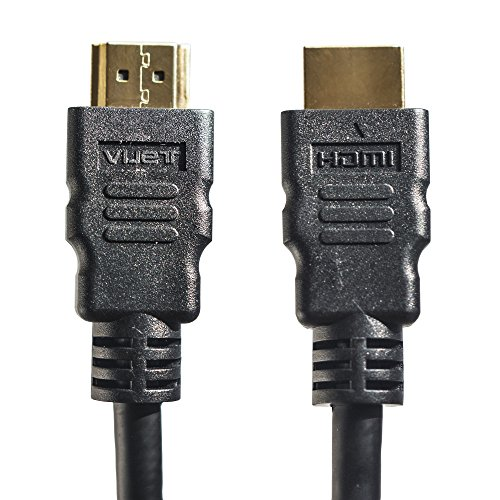 4K HDMI Cable 6.6ft with Ethernet – High Speed 18Gbps for 3D, UHD, HDR, Apple TV, & Laptop HDMI Monitor Cable - 28AWG Braided, Flexible, Short HDMI Cable is Backward Compatible – No Latency / Dropouts - Audio Visual Tv