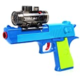 Foam Dart Gun Blaster Toy - Shoot Water Beads Bullet Ball Spring Powered, Light up Aiming Scope, Suction Darts, Clear Eco-Friendly Shooting Battle, USA Warranty & Support