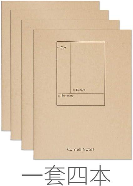 A4 Cornell Notebook Stationery para hombres y mujeres Establecimiento de objetivos Alcance los objetivos para aumentar la productividad y la felicidad