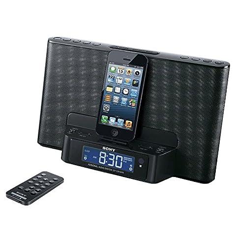 Sony Icfcs15ipn Lightning Alarm Clock Radio Speaker Dock for Iphone 5 5s 6 Ipod (Ipod Dock With Clock)