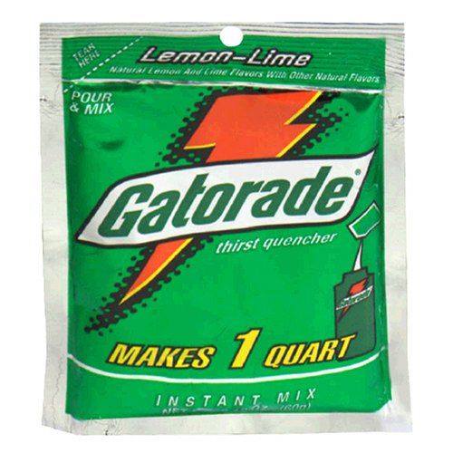 (Gatorade Lemon-lime Powder, 2.12-Ounce Single Serve Pouches (Pack of 144))