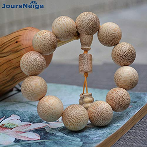 Oseni Wholesale Natural Old Material Dragon Blood Glitter Bamboo Bracelets Round Wooden Buddha Beads Hand String Lucky For Men Jewelry