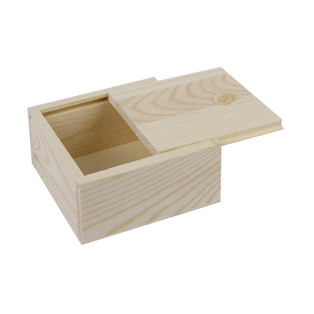 Unfinished wood craft boxes - Fashionclubs Unfinished Wood Craft Box Treasure Small Box For Jewelry Postcards Makeup 17 5