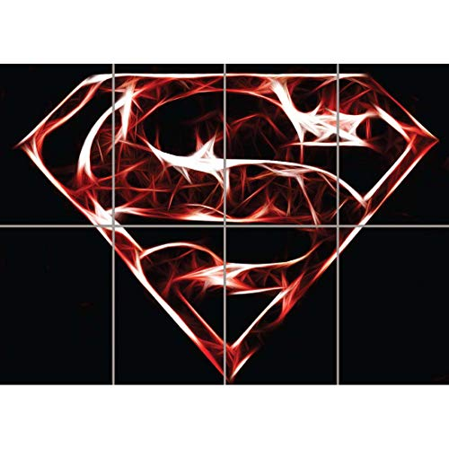 (Doppelganger33 LTD Superman Fractal Art Giant Wall Print Poster Art EN797)