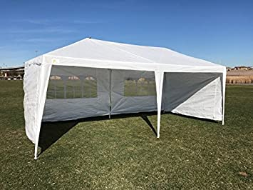 Amazon.com  Palm Springs Outdoor 10 x 20 Wedding Party Tent Canopy with 4 Sidewalls  Garden u0026 Outdoor & Amazon.com : Palm Springs Outdoor 10 x 20 Wedding Party Tent ...