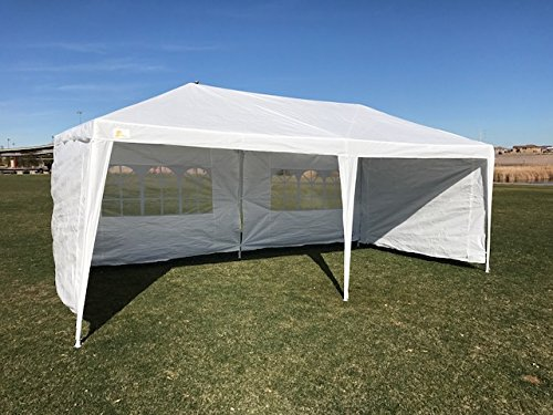 Palm Springs Outdoor 10 x 20 Wedding Party Tent Canopy with 4 Sidewalls ()