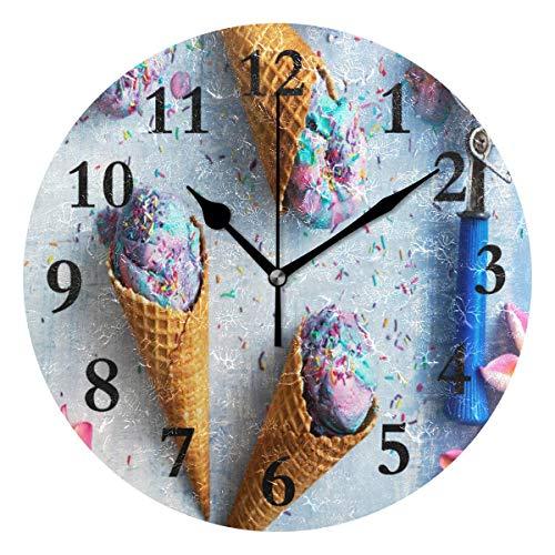 ice cream cone wall clocks - 9