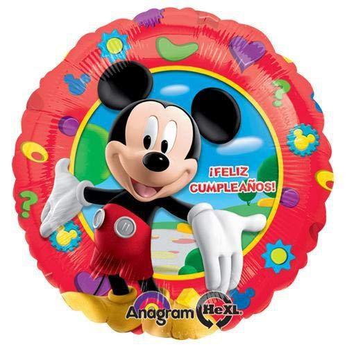 18 Anagram 17873 Mickey Mouse Feliz Cumpleanos Foil Balloon Multicolored