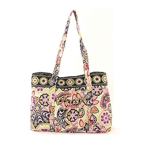 Floral Quilted Cotton Tote Bag ()