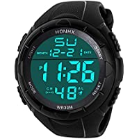 Paymenow Clearance Watches 2018 New Fashion Men Digital Watches Luxury LED Army Sport Watch Analog Military Wrist Watch for Men (D)