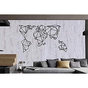 Amazon Com Verden Unique Design Metal World Map
