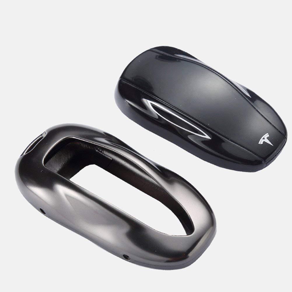 2# Stone Blue Kwaks Aluminium Metall Auto Fernbedienung Smart Key Cover Schutzh/ülle f/ür Tesla Modell S