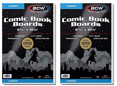 BCW NA Current Comic Book Backing Boards, 200 Count, White ()