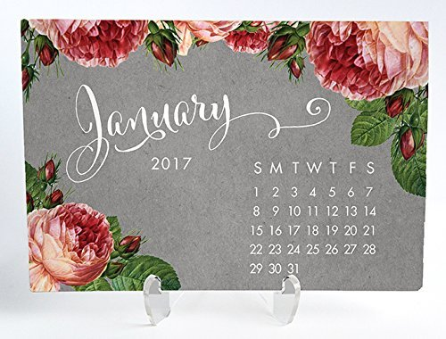floral-2017-desk-calendar-with-clear-acrylic-stand-gary-with-pink-peony-planner-cards-office-gift-4-