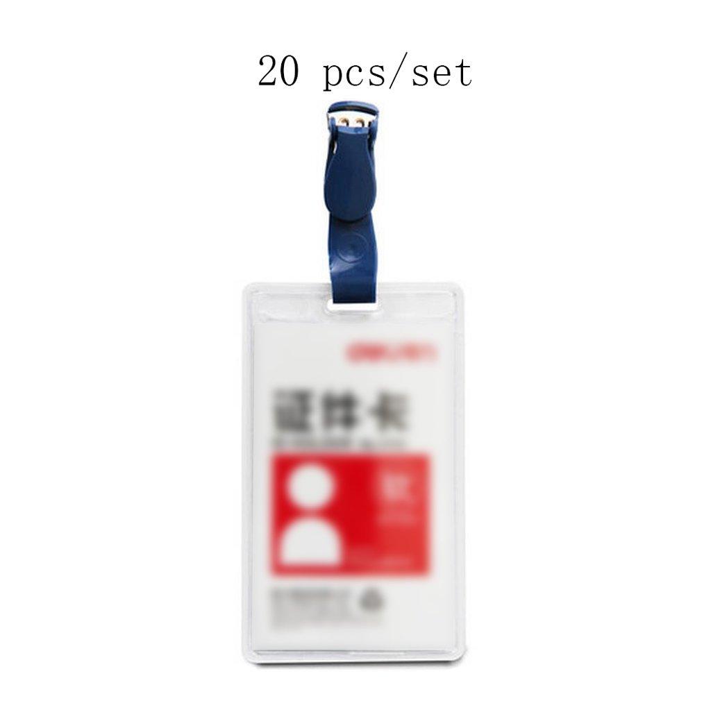 Liu Yu·Bürofläche, Bürobedarf 105  64mm weiß transparenter Kunststoff Grünikale Dokumente Karte Kartenkarte Sätze von Arbeitsgenehmigungen 20 Stück   Set