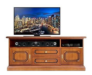 klassischer tv schrank soundbars fach mit turen und schubladen b133xh58xt40 cm schon