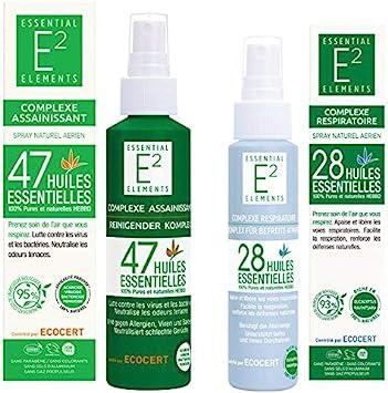 Kit de protección : Spray desinfectante con 47 aceites esenciales Spray respiratorio con 28 aceites esenciales ...