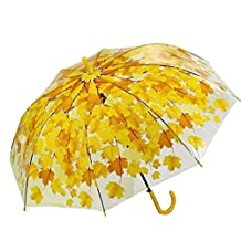 Personality Small Fresh Cherry Leaves Long Umbrella Thickening Creative Umbrella