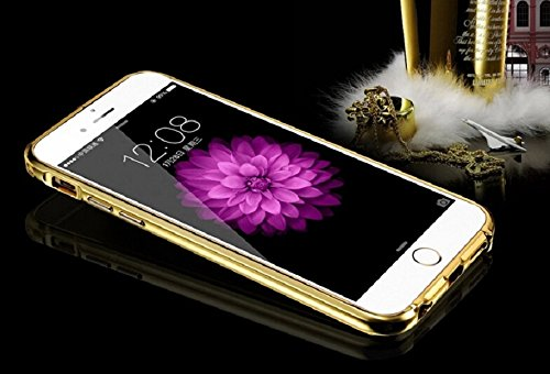 Mokingtop®For iPhone 6 Plus Luxury Ultra-thin Aluminum Metal Mirror Case Cover (Gold)