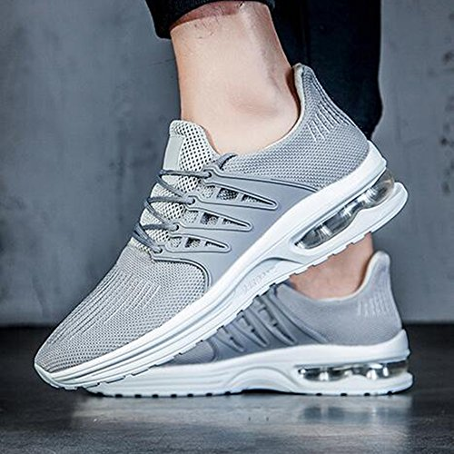 Men's Shoes Feifei Spring and Autumn Leisure Breathable Running Shoes 3 Colors (Color : Gray, Size : EU39/UK6/CN39)