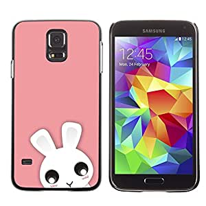Be Good Phone Accessory // Dura Cáscara cubierta Protectora Caso Carcasa Funda de Protección para Samsung Galaxy S5 SM-G900 // Cute Pink Animal