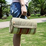 Luggage Spotter Outdoor Water Resistant Soft Fleece Picnic Blanket with Tote for Yoga, Beach, Concerts, Tailgating, Camping, Kids Play Mat, Travel