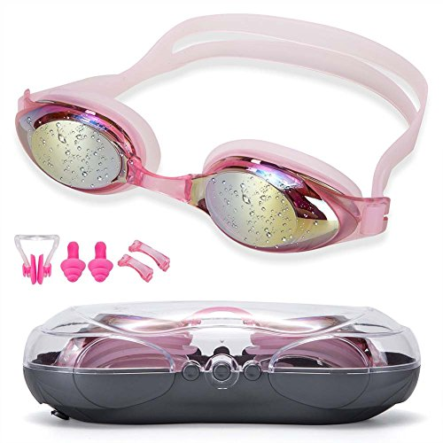 Yingee Swim Goggles,Swimming Goggles No Leaking Anti Fog UV Protection ,Triathlon Swim GogglesTriathlon Swim Goggles Case for Adult Men Women Youth Kids Child - Mean Is Polarized What