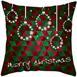Throw Pillow Covers Merry Christmas Notekd Christmas Gift Printing Cushion Cover Case Pillow Custom Zippered Square Home Decor Pillowcase 18x18 for Sofa Bed Room (D)