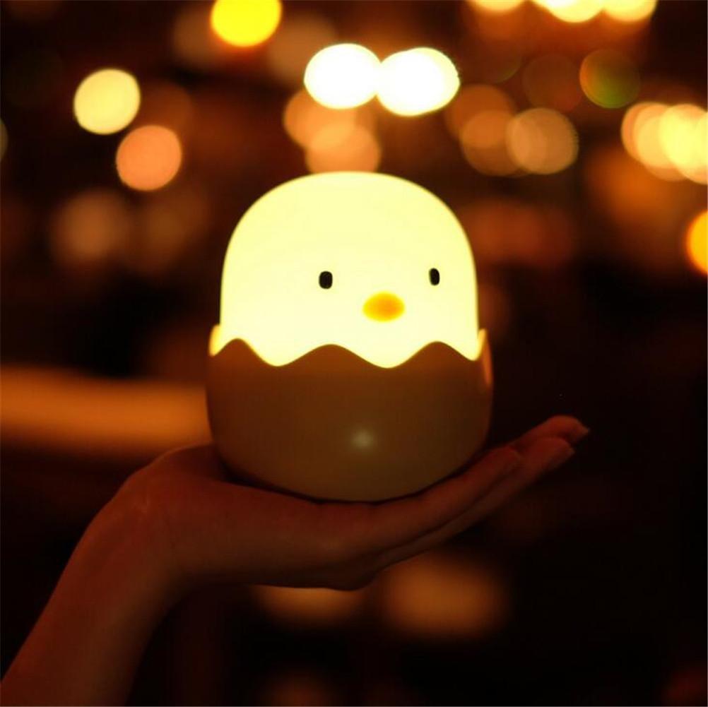 ELEGENCE-Z Huevo Concha de Pollo Luz Emocional Noche Luz Interruptor Táctil Pequeño Huevo Concha USB Vaso Luz de Noche Inteligente para Niños: Amazon.es: ...