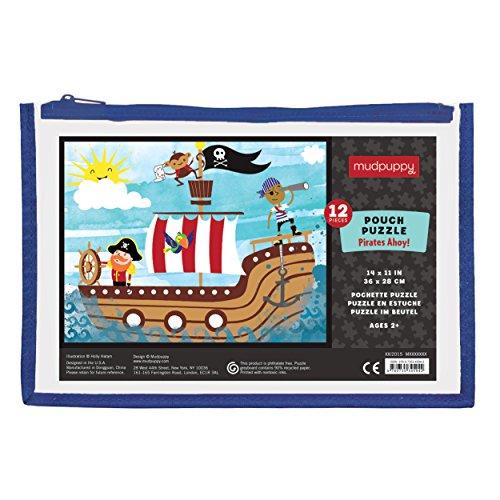 Mudpuppy Pirates Ahoy! Pouch Puzzle (12 Piece)