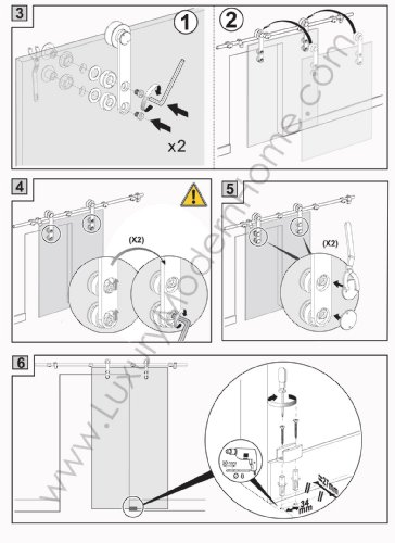 BERLIN - 2.5M - DOUBLE Sliding Glass Door Hardware (100'' opening - Max 2 - 50'' doors) by LuxuryModernHome.com (Image #6)