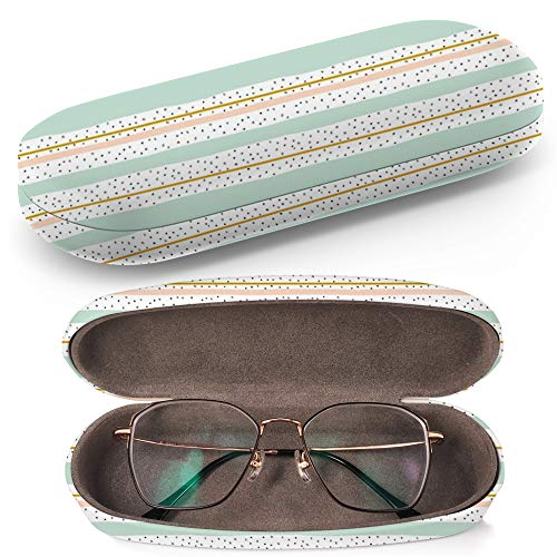 Hard Shell Glasses Protective Case with Cleaning Cloth for Eyeglasses and Sunglasses - Artistic Creative Universal ()