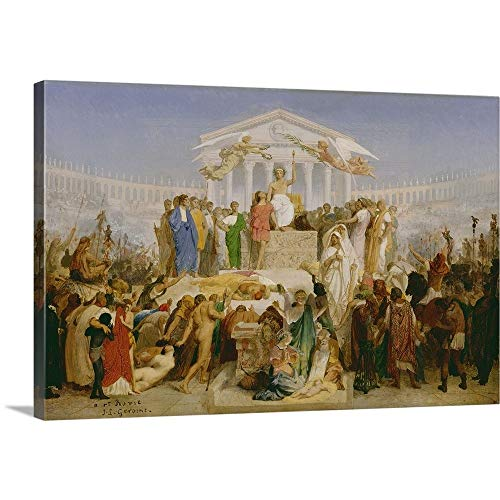 GREATBIGCANVAS Gallery-Wrapped Canvas Entitled Age of Augustus, The Birth of Christ, by Jean-Leon Gerome by Jean Leon Gerome 18