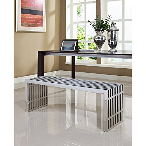 Modway Large Gridiron Stainless Steel product image