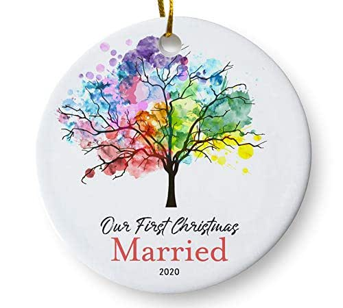 Amazon.com: Our First Christmas Married 2020 Ornament ...