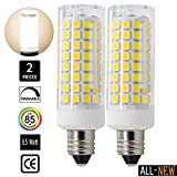 75w type a bulb daylight - All-New (102LEDs),E11 LED Bulbs- 8.5W 75W or 100W Equivalent halogen Repalcement 850 Lumens, Mini Candelabra Base,120v,130 Volt,Daylight White, Replaces T4 /T3 JD Type Clear E11 Light Bulb (2 Pack)