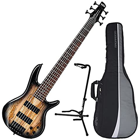 Ibanez GSR206SM 6-String Electric Bass (Natural Grey Burst) w/ Spalted Maple Top w/ Gig Bag and (Bass Gig Bag Ibanez)
