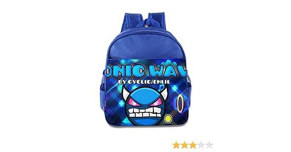 Amazon.com: Geometry Dash Sonic Wave Demon Icon Kids School Backpack Bag: Toys & Games