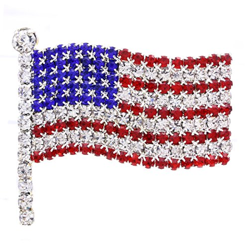 Large Pin Brooch - Soulbreezecollection American Flag Star USA Pin Brooch 4th of July Independence Day Jewelry (Large)