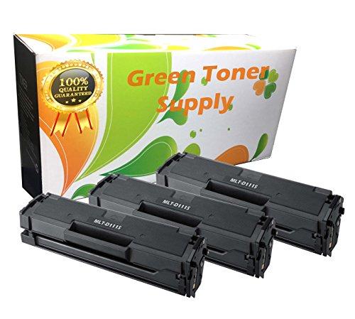 GTS (TM) Samsung MLT-D111S Black LaserJet Toner Cartridges for SL-M2020W, SL-M2070W/FW