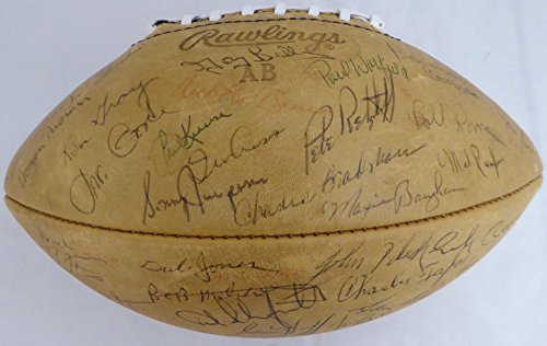 Used, 1965 Pro Bowlers Autographed Football With 58 Signatures for sale  Delivered anywhere in USA