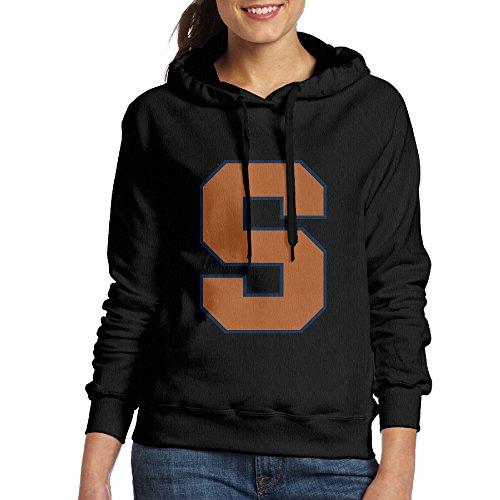 FUOALF Women's Pullover Syracuse University S Logo Hoodie Sweatshirts Black - Syracuse Destiny Ny