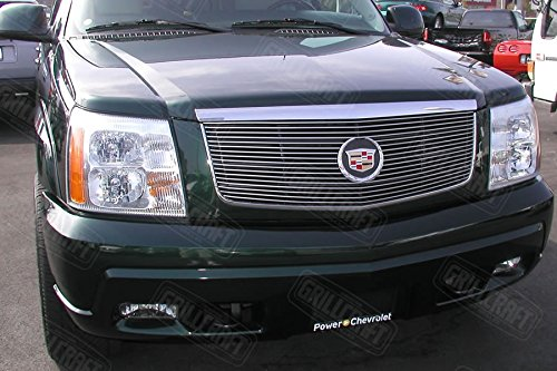 Cadillac Escalade Billet Grill (Grillcraft CAD1600-BAC BG Series Polished Aluminum Upper 1pc Billet Grill Grille Insert for Cadillac Escalade)