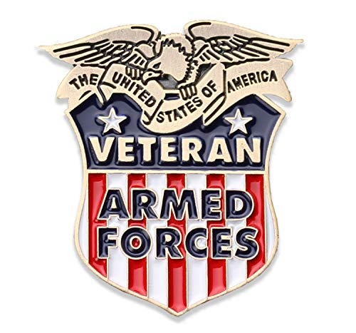 Coins For Anything Inc Armed Forces Veteran Lapel Pin - Marine Corps, Army, Air Force, Navy, Coast Guard Veterans Hat Pin - USA Veteran Pins - Vet Owned Company! Officially Licensed Product