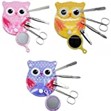 Spove Owl Design Personal Care Manicure Set 5 in 1 (3 Sets)