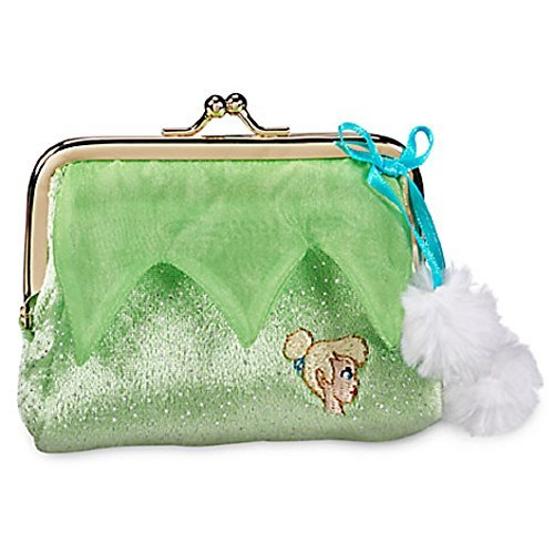 Smee Costume Girl (Tinker Bell Coin Purse Exclusive Fuzzy Exterior with Blue satin bow with white pom poms by Disney)